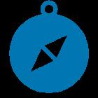 icono brújula